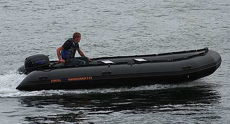 EXCEL VANGUARD XHD535 INFLATABLE BOAT COMMERCIAL WORKBOAT WATERSPORTS DIVING RIB